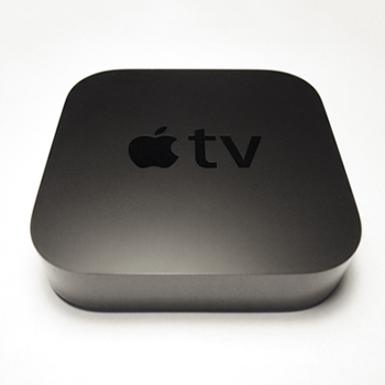 a black Apple TV