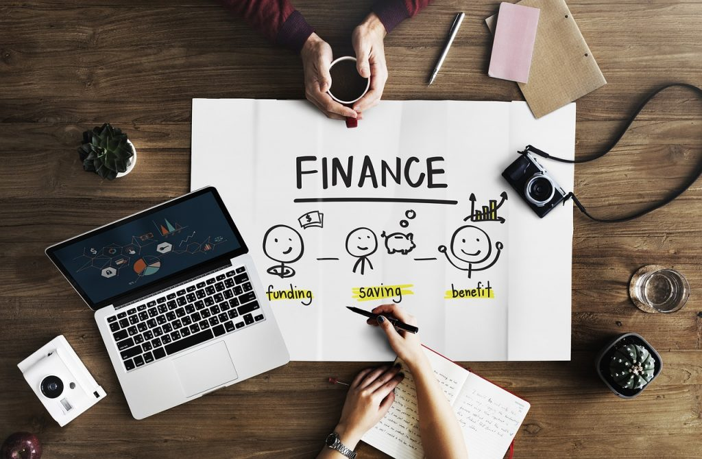 a creative photo of finance with a focus on funding, saving, and benefit